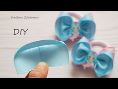 How to make a butterfly from a ribbon 🎀 Bows 🎀 for hair - Free Online Videos Best Movies TV shows - Faceclips Ribbon Hair Bows, Diy Hair Bows, Diy Bow, Ribbon Flower, Newborn Hair Bows, Hair Bow Tutorial, Flower Tutorial, Bow Template, Making Hair Bows
