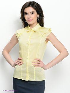 Блузка Devur. Цвет светло-желтый.
