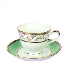 Laurel Green Tea Cup Set