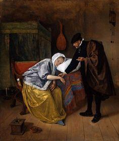 Jan Steen, The Sick Woman. 1665 c., Rijksmuseum, Amsterdam, oil on canvas, 76 x 64 cm