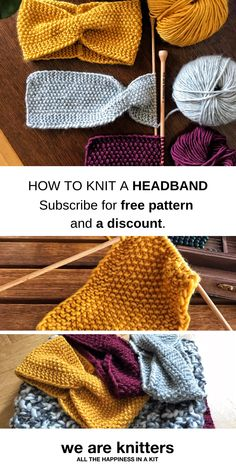 Knit your own headband for this autumn. All you need is 1 skein of Meriwool and US 8 (5mm) knitting needles. Choose out of 20 colors and get your free pattern and a discount on your first order.