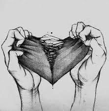 cuore spezzato disegno