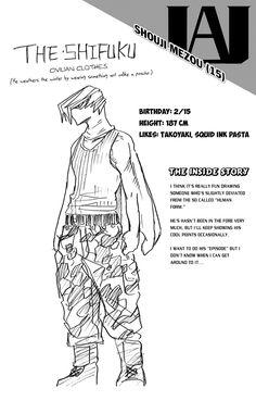 Character info: Shouji Mezou