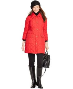 Lauren Ralph Lauren Quilted Coat, Turtleneck & Ponte Leggings