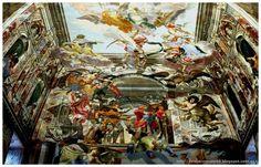 """Fragmento con la """"Victoria contra el Imperio Otomano en 1683"""" del espectacular trampantojo que decora la Sala de Honor del Palacio Troja (Trojský zámek) de Praga, obra de Abraham e Isaak Godyn"""