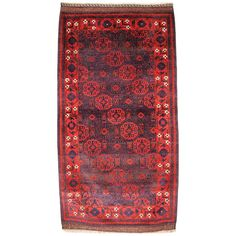 Antique Baluch Rug from Western Afghanistan, Superb Floral Border, circa 1880 For Sale