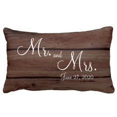 Mr. and Mrs. Rustic Wedding Pillows