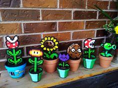 Plants vs Zombies Pots Other designs available upon by GetSTUFT 20 00 Perler Bead Designs, Diy Perler Beads, Perler Bead Art, Zombies Vs, Plants Vs Zombies, Bead Crafts, Diy And Crafts, Crafts For Kids, Decoration Ikea