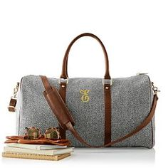 ca195ecf32 Canvas with Leather Weekender Bag Mark And Graham