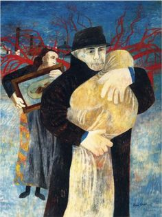 prior pinner: Poems and Images from the Benton anthology (Ben Shahn, Father & Child Painting Wallpaper, Painting & Drawing, Modern Art, Contemporary Art, Ben Shahn, Social Realism, Figurative Kunst, Walker Evans, Jewish Art