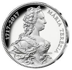 Ražba dne! Pamětní medaile z ryzího stříbra - 300. výročí Marie Terezie - avers