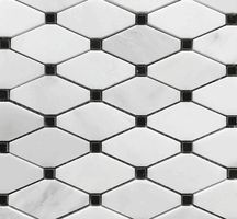 Premium Carrara Octagon Marble Mosaic Tiles from the builder depot Hexagon Mosaic Tile, Marble Mosaic, Carrara Marble, Marble Floor, Wall Tiles Price, Marble Tile Bathroom, Kitchen Tile, Black Subway Tiles, Shower Floor Tile