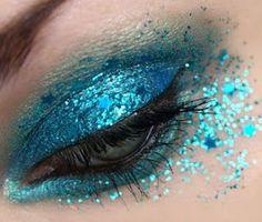 Blue glitter.