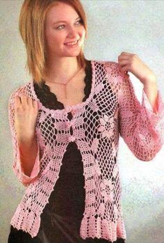 Patrón #576: Blusa Rosa a Crochet | CTejidas [Crochet y Dos Agujas]
