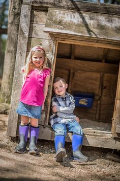 Kiddos playing in their Muck Boots
