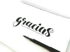 Palabra gracias Imágen gracias Lettering Palabras escritas a mano Hand draw lettering
