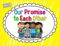 """Help build a strong classroom community by having your children recite """"Our Promise to Each Other"""" every morning. This cute display will help your children learn the promise in no time! The words in this promise were written by Debbie Miller, and can be found in her book, Reading With Meaning.LoriIf you like what you see, please follow me:Teaching With Love and LaughterFacebookPinterest"""