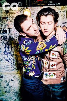 Miles wears shirt by MSGM, £320. At Harvey Nichols. harveynichols.com. Trousers by Roberto Cavalli, £345. robertocavalli.com. Alex wears jacket by Gucci, £2,960. gucci.com. Trousers by Pal Zileri, £1,150. palzileri.com. Jewellery, Miles and Alex's own