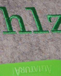 Tasche Mahlzeit mit grünem Stick