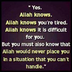 Allah knows More