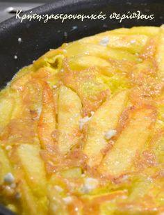 Χωριάτικη ομελέτα με πατάτες και ξινομυζήθρα – Κρήτη: Γαστρονομικός Περίπλους Sausage And Egg, Fun Cooking, Greek Recipes, Different Recipes, Grapefruit, Macaroni And Cheese, Pineapple, Food And Drink, Eggs