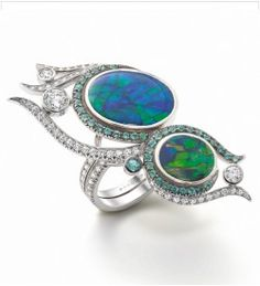 Peacock Opal Ring
