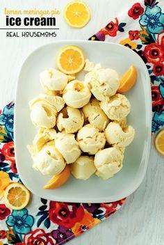 No Churn Lemon Meringue Pie Ice Cream via @realhousemoms