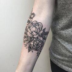 Image result for peony mandala tattoo drawing