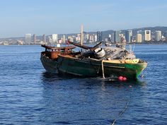 The grounded fishing vessel Pacific Paradise was finally removed from the reef off Kaimana Beach near Honolulu's famous Waikiki on Thursday. Response crews refloated the Pacific Parad… Fishing Vessel, Oahu, Hawaii, Paradise, How To Remove, Sailing Adventures, Beach, Nature, Science