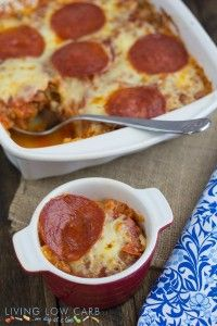 Pizza Spaghetti Squash Casserole - Living Low Carb One Day At A Time