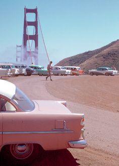 "vintagegal: ""Golden Gate Bridge, San Francisco, 1950s. Kodachrome by Chalmers…"