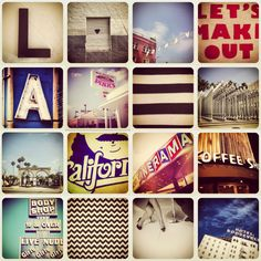 Los Angeles Photography Collage 12x12. $40.00, via Etsy.