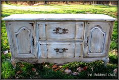 Love this Chalk Paint Dresser! ASCP in French Linen!