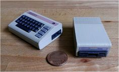 Mini Commodore C64 with 1541 disk drive by RabbitEngineering http://thingiverse.com/thing:150957