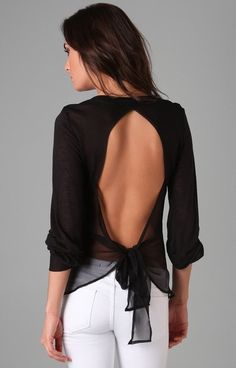 Love the black and white combo, but the open back is a complete package.