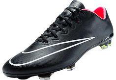 Nike Mercurial Vapor X FG Soccer Cleats - Black and Hyper Punch