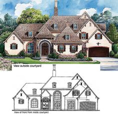 Plan W40444DB: European, Luxury, Photo Gallery, French Country, Corner Lot, Premium Collection House Plans & Home Designs