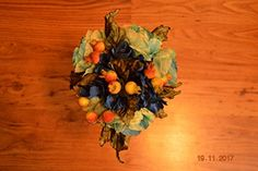 Anmalip-Handmade] Bouquet of Roses and Blue Made and Hand-Painted Textile (Marine Colors from Yellow to Blue, Silk) Yellow Rose Bouquet, Marine Colors, Chromotherapy, Living Off The Land, Silk Flowers, Bouquet Flowers, Flower Making, Artificial Flowers, Mother Nature