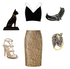 """""""Cleopatra"""" by tara2481 on Polyvore featuring River Island, Pure Collection, Valentino, Hattie Carnegie and King Ice"""