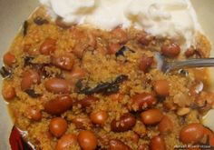 Stew of Pinto Beans and Cracked Wheat in Caramelized Onions – Mujaddara bi Fasoulia