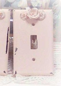 Pink Shabby light switch cover. $8.99