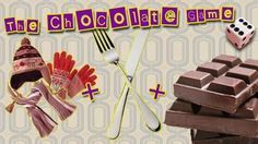 Fun Party Game: What you need: Hat, scarf, mittens, chocoloate bar, dice, knife & fork  Sit in a circle. Place the knife, fork, chocolate bar wrapped in wrapping paper