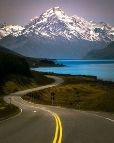 Captured in Aoraki National Park, New Zealand. Great Pictures, New Zealand, National Parks, Mountains, Landscape, Roads, Awesome, Photography, Travel