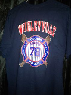 02941cb46 XL-Tshirt Engine78 Amb. 6 Chicago Firehouse Wrigleyville World Champ  ChiCubs