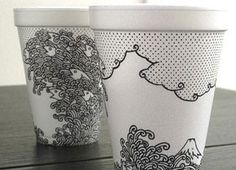 Sharpie and Styrofoam Coffee Cup Art - New Finds - Food News - CHOW