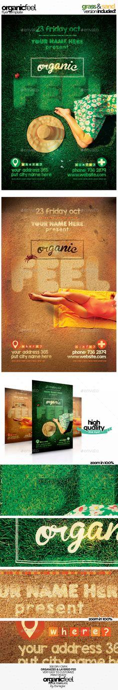 Organic Feel Flyer Template Grass & Sand Version