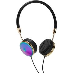 Frends Layla Oil Slick On-Ear Headphones ($215) ❤ liked on Polyvore featuring accessories, tech accessories, headphones, electronics, fillers, tech and frends headphones