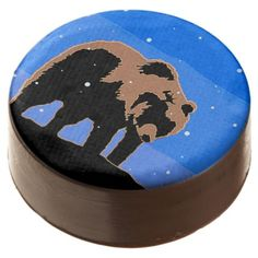 #Grizzly Bear in Winter Chocolate Dipped Oreo - #Chocolates #Treats #chocolate