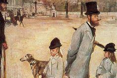 La Place de la Concorde, 1876, Edgar Degas
