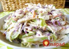 This apple coleslaw recipe looks good, but the picture does NOT seem to match the ingredients. Still, the recipe itself might work. Apple Coleslaw, Apple Slaw, Coleslaw Recipes, Paleo Recipes, Cooking Recipes, Clean Eating, Paleo Side Dishes, Hungarian Recipes, Soup And Salad